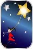 Bära en guld- stjärna Royaltyfri Foto