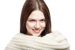 Bära för kvinna som är woolen fotografering för bildbyråer