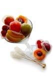 bära fruktt glass gelé Arkivfoto