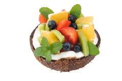 Bära fruktt salladefterrätten Royaltyfri Foto