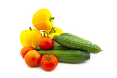 bära fruktt set olika grönsaker Arkivfoto