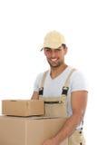 Bärande askar för arbetare Royaltyfria Bilder