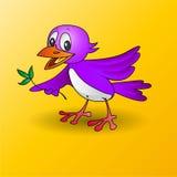 Bärande blad för fågel stock illustrationer