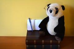 Bärande exponeringsglas för panda Royaltyfria Foton