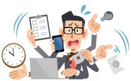 Bärande för upptaget glasögon för affärsman göra panikslagen vektor illustrationer