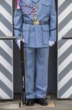 Bärande gevär för tjeckisk soldat Arkivfoto