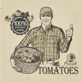 Bärande grönsaker för bonde Arkivbilder