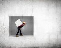 Bärande kub för byggmästare Arkivbild
