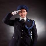 Bärande likformig för elegant soldat Fotografering för Bildbyråer