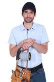 Bärande lock för stilig rörmokare arkivbild