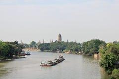 Bärare av Chao Phraya River royaltyfria foton