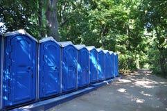 Bärbar bio-toalett Arkivbild