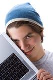 bärbar dator för 3 pojke royaltyfri fotografi