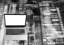 Bärbar dator Front View med Arkivfoton