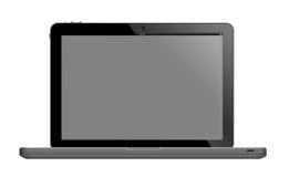Bärbar dator med den tomma skärmen Arkivbild