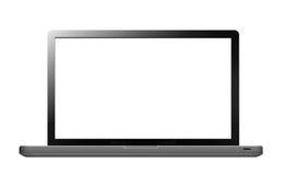 Bärbar dator med den tomma skärmen Arkivfoto