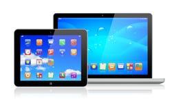 Bärbar dator- och tabletPC Royaltyfri Foto