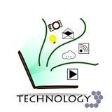 Bärbar dator och teknologi på vit bakgrund royaltyfri bild