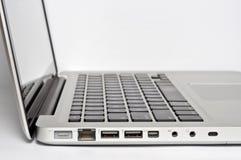 bärbar dator ports ström Arkivfoton