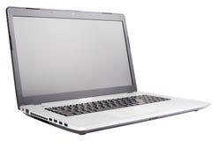 Bärbar dator som isoleras på vit Arkivfoton