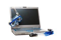 bärbar dator som snorkeling Royaltyfria Foton