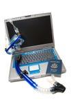 bärbar dator som snorkeling Royaltyfri Foto