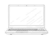 Bärbar dator - vektorillustration Arkivbilder