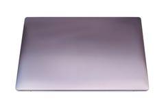 Bärbar datordator på vit bakgrund Arkivbilder