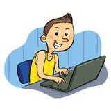Bärbar datorGeek Vektor Illustrationer