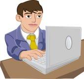 bärbar datorman Stock Illustrationer
