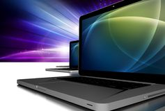Bärbar datorPCdatorer Arkivbilder