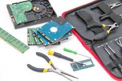 Bärbar datorreparationshjälpmedel och teknisk service Arkivfoton
