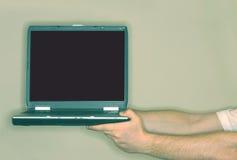 bärbar datorskärm Fotografering för Bildbyråer