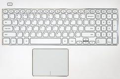 Bärbar datortangentbordbakgrund royaltyfri bild
