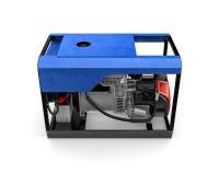 Bärbar generator som isoleras på en vit bakgrund Arkivbild