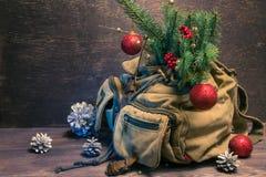 Bärbar julgran arkivfoton