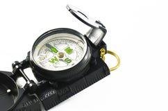 Bärbar kompass på vit Royaltyfri Fotografi