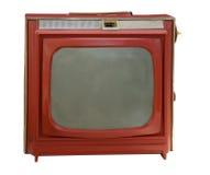bärbar röd televisiontappning Arkivbilder