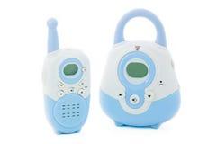 bärbar radio för barnflicka Arkivbilder