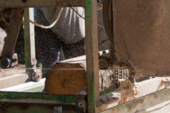 Bärbar sawmill arkivfoton
