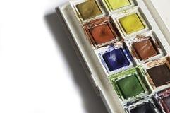 Bärbar vattenfärguppsättning Arkivfoton