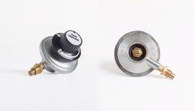 Bärbar ventil för gasBBQ-regulator Royaltyfria Foton