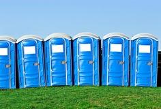 bärbara toaletter Arkivbild