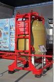 Bärbart helikoptertryckvatten och avrinningapparat arkivfoto