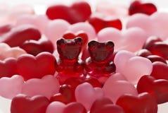 Bären in der Liebe stockbilder