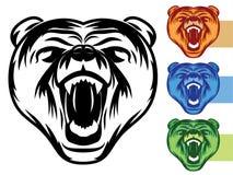 Bären-Maskottchen-Ikone Stockbilder