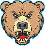 Bären-Maskottchen-Zeichen Lizenzfreie Stockbilder