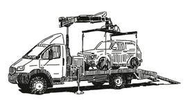 Bärgningsbil vektor illustrationer