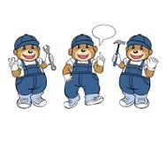 Bärn-Mechaniker Mascot Lizenzfreies Stockfoto