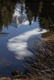 Bärn-Nebenfluss-Helm- u. Teichreflexion Lizenzfreie Stockfotos